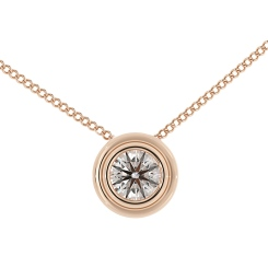 HPR3 Round Solitaire Diamond Pendant - rose