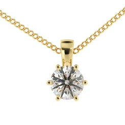 HPR40 Round Solitaire Pendant - yellow