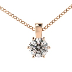 HPR40 Round Solitaire Pendant - rose