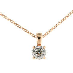 HPR42 Round Solitaire Pendant - rose