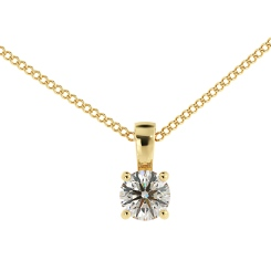 HPR42 Round Solitaire Pendant - yellow