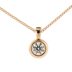 HPR45 Round Solitaire Pendant - rose