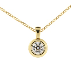 HPR45 Round Solitaire Pendant - yellow