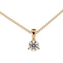 HPR47 Round Solitaire Pendant - rose