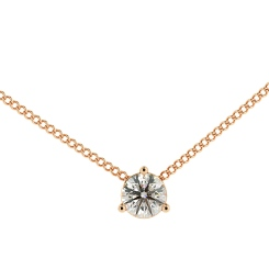 HPR48 Round Solitaire Pendant - rose