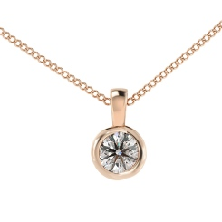 HPR59 Round Solitaire Pendant - rose