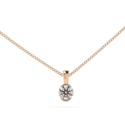 HPR63 Round Solitaire Pendant - rose