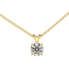 HPR70 Round Solitaire Pendant - yellow