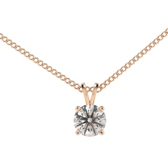 HPR70 Round Solitaire Pendant - rose