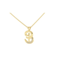 B Alphabet Pendant - yellow