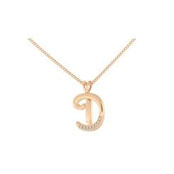 D Alphabet Pendant - rose