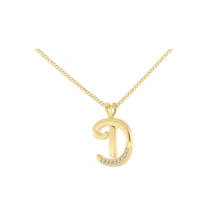 D Alphabet Pendant - yellow