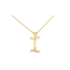 I Alphabet Pendant - yellow