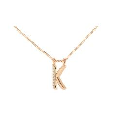 K Alphabet Pendant - rose