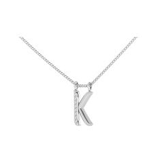 K Alphabet Pendant - white