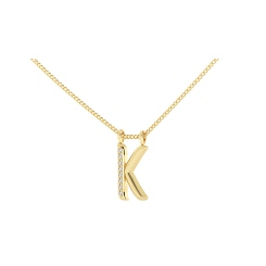 K Alphabet Pendant - yellow