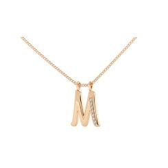 M Alphabet Pendant - rose