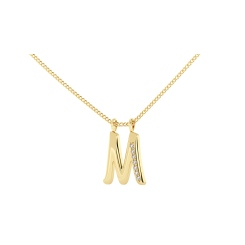 M Alphabet Pendant - yellow