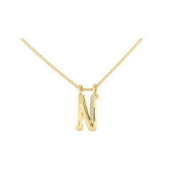N Alphabet Pendant - yellow