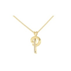 P Alphabet Pendant - yellow