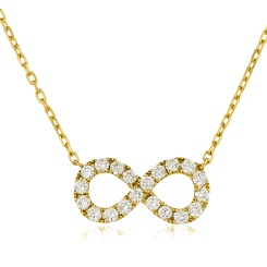 HPRDR118 Round cut Infinity Diamond Pendant - yellow