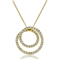 HPRDR121 Round cut Swirl Diamond Pendant - yellow