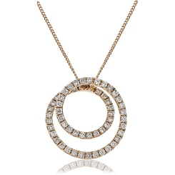 HPRDR121 Round cut Swirl Diamond Pendant - rose