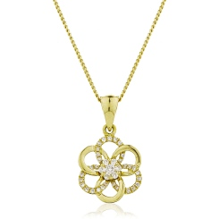 HPRDR122 Round Designer Diamond Pendant - yellow