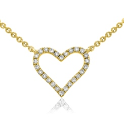 HPRDR147 Round cut Designer Diamond Pendant - yellow