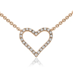 HPRDR147 Round cut Designer Diamond Pendant - rose