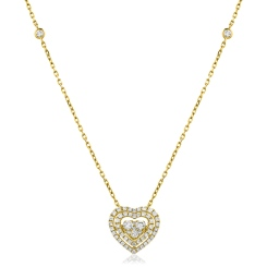 HPRDR157 Round cut Designer Diamond Pendant - yellow