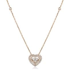 HPRDR157 Round cut Designer Diamond Pendant - rose