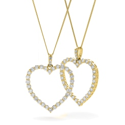 HPRDR200 Classic Round cut Heart Diamond Pendant - yellow