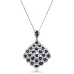HPRGBS238 Designer Drop Blue Sapphire Pendant - rose