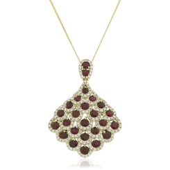 HPRGRY240 Designer Drop Ruby Pendant - yellow