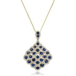 HPRGBS238 Designer Drop Blue Sapphire Pendant - yellow