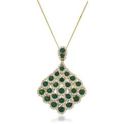 HPRGEM239 Designer Drop Emerald Pendant - yellow