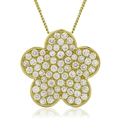 HPRGRY219 Ruby Multistone Cluster Cocktail Pendant - yellow