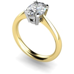 HR0286 Oval Solitaire Diamond Ring - yellow
