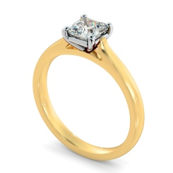 HRA1144 Asscher Solitaire Diamond Ring - yellow