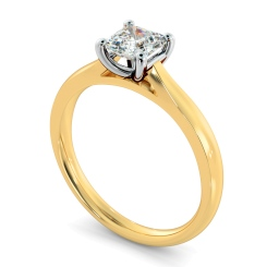 HRA1148 Classic Four Claw Asscher Solitaire Diamond Ring - yellow