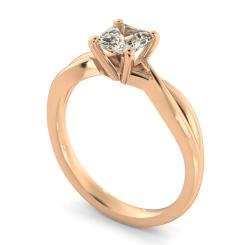 HRA1150 Asccher Cut Infinity Diamond Engagement Ring - rose