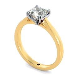 HRC884 Cushion 4 Claw Diamond Ring - yellow