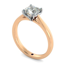 HRC884 Cushion Shoulder Diamond Ring - rose