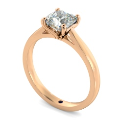 HRC884 Cushion 4 Claw Diamond Ring - rose