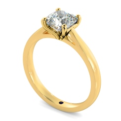 HRC884 Cushion 4 Claw Diamond Ring - yellow