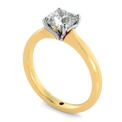 HRC885 Cushion Solitaire Diamond Ring - yellow