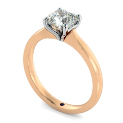 HRC885 Cushion Shoulder Diamond Ring - rose
