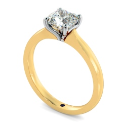 HRC885 Cushion Shoulder Diamond Ring - yellow