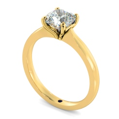 HRC885 Cushion Solitaire Diamond Ring - yellow